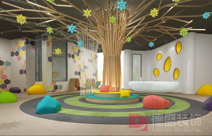 幼儿园休闲区装修效果图