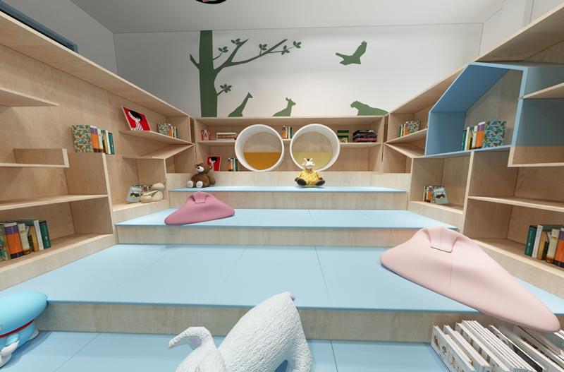 幼儿园阅读区装修效果图